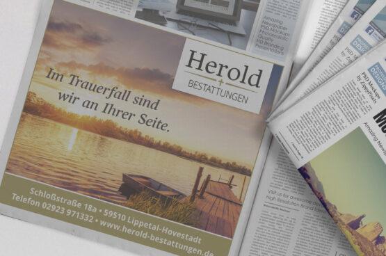 Herold Anzeige